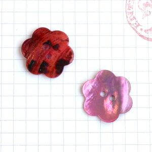 貝ボタン 花型 21mm《ピンク》