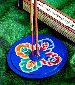 インド香&ネパール香立て 【直径約9cm】 / お香立て チベット香 インセンス アジア エスニック