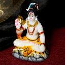 カラフルシヴァ像〔10cm〕 / Shiva シバ ヒンドゥー教 神様像 インド神様 置物 レジンキャスト 陶器 テラコッタ エス…