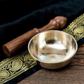 高音質シンプルシンギングボウル 8.6cm平型 / シンギングボール Singing Bowl 仏教 楽器 瞑想 民族楽器 インド楽器 エスニック楽器 ヒーリング楽器