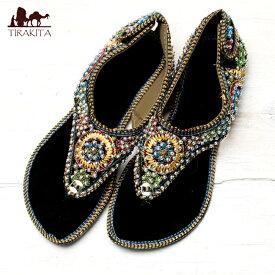 インドのトングサンダル 【踵テープ】 / チャッパル 靴 レビューでタイカレープレゼント あす楽