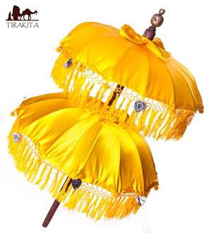 巴厘的2段伞(黄色) - 70cm和80cm| 巴厘伞祭祀巴厘的伞族群印度亚洲杂货