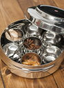 【スパイスボックス】 円形スパイスボックス ダイヤモンド 約 21cm / 入れ インド マサラ ケース エスニック アジアン…