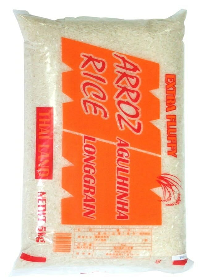 店内全品エントリーでポイント5倍 タイ米 5Kg Thai Rice 【LONGGRAIN】 / タイ料理 送料無料 レビューでタイカレープレゼント