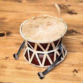 ネパールの民族打楽器 ダムルー / 太鼓 ドラム インド 民族楽器 インド楽器 エスニック楽器 ヒーリング楽器