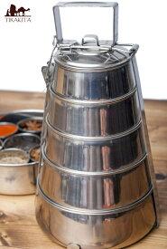 【送料無料】 【5段】インドの弁当箱 33cm / 五段 おどろき びっくり ビックリ びっくり弁当箱 ダッバー dabbawala ダッバーワーラー ランチボックス アジアン食品 エスニック食材