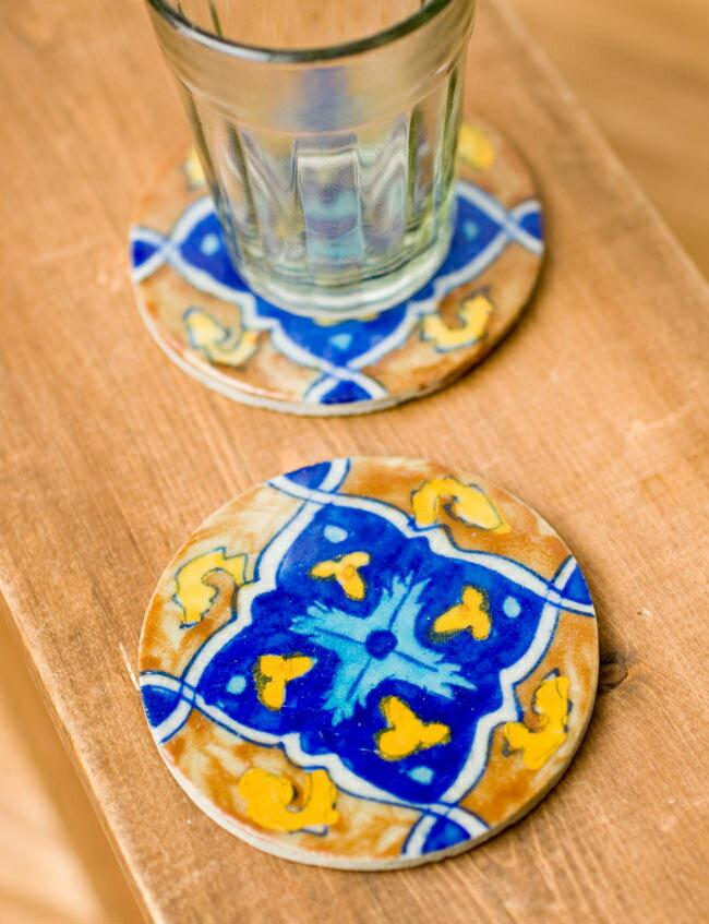 ジャイプール陶器のコースター / 食卓 キッチン キッチン雑貨 あす楽