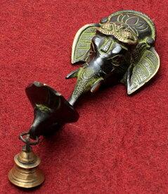 【送料無料】 ガネーシャの灯台 20cm / ランプ 灯心 キャンドルスタンド インド お香立て 礼拝 インセンス アジア エスニック