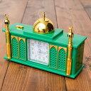 目覚まし時計 アザーン目覚まし時計−モスク-緑 あす楽
