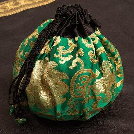 シンギングボウル用携帯巾着 小サイズ / シンギングボール マット 台座 仏教 楽器 瞑想 民族楽器 インド楽器 エスニック楽器 ヒーリング楽器
