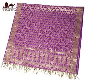(大判)金色刺繍のデコレーション布 / ソファカバー テーブルクロス 切り売り 生地 スカーフ インド 光沢 ストール アジア ファブリック エスニック