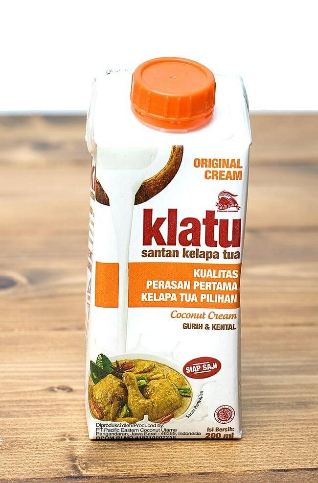ココナッツクリーム 【200ml】 【KLATU】 / インドネシア料理 タイ料理 ココナッツミルク あす楽