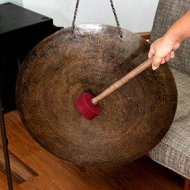 【送料無料】 ブラスの銅鑼 54cm 4Kg / ドラ ネパール 打楽器 チベット ベル 民族楽器 インド楽器 エスニック楽器 ヒーリング楽器