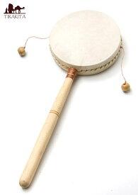 インドネシアのでんでん太鼓【大】 / バリ 打楽器 民族楽器 インド楽器 エスニック楽器 ヒーリング楽器