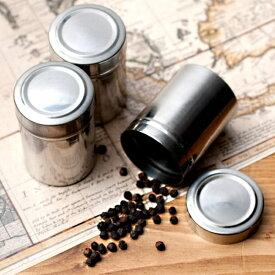 【スパイスボックス】 【3個セット】ステンレスのマサラケース・小物入れ 約6.5cm×4.5cm / マサラボックス インド エスニック アジアン 食品 食材 食器