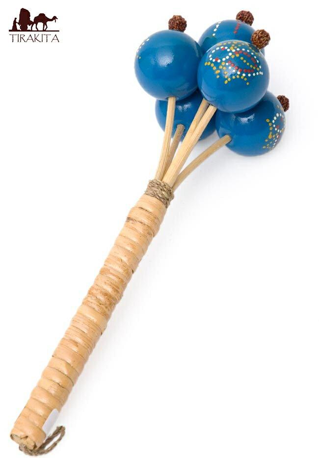 カラフルシェイカー / バリ 打楽器 民族楽器黒/赤/緑/黄/茶/青 レビューでタイカレープレゼント あす楽