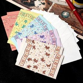 インドのメッセージカードセット LATIKA / プレゼント 手紙 ポストカード エンベロープ envelope 封筒 チマンラール Chimanlals 便箋 レターセット エスニック アジア 雑貨