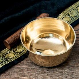 シンプルシンギングボウル 12cm / シンギングボール Singing Bowl 仏教 楽器 瞑想 民族楽器 インド楽器 エスニック楽器 ヒーリング楽器
