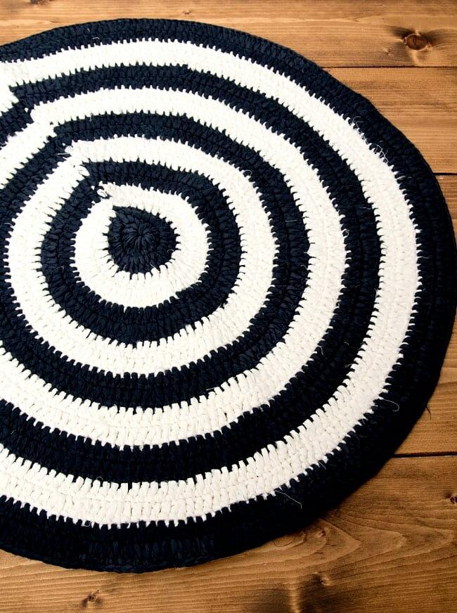 インドのコットン手織りラグマット まる型【4重円】 / チャンディマット レビューでタイカレープレゼント あす楽