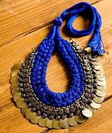 インドのトライバルゴールドネックレス / チョーカー アクセサリー エスニック ネパール アジア アンクレット ピアス リング ビンディー
