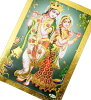 God postcard - Lakshmi and Sarah's Batty poster gold good luck postcard letter / of the money