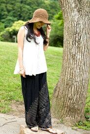 【タイダイ パンツ】 さらさら素材のシンプルリラックスパンツ / メンズ フリーサイズ レディース 春 夏 男性 女性 アジア エスニック エスニック衣料 アジアンファッション エスニックファッション