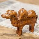 アニマル型立体ジグソーパズル らくださん / お土産 おもちゃ ベトナム 駱駝 インド アジア トイ エスニック 雑貨
