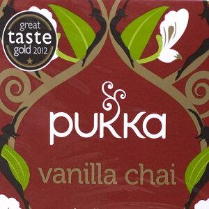 【ハーブティー】 【PUKKA】 vanilla chai オーガニックハーブティー(カフェインフリー) / デトックス ハーブ療法 アーユルヴェーダ アーユルベーダ ヨガ 黒豆 チャイ きのこ ほうじ茶 えのき 玄
