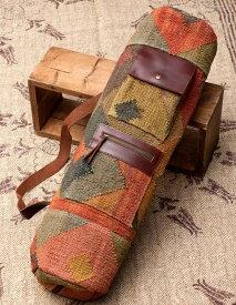 〔一点もの〕伝統を紡いだ インドキリムのヨガマットバッグ / ダリー ジュート 送料無料 レビューでタイカレープレゼント あす楽