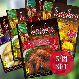 自由に選べる! インドネシア料理の素 5個セット / ハラル HALAL Halal はらる 自由に選べるセット バリ ナシゴレン ハラルインドネシア料理 食品 食材 アジアン食品 エスニック食材
