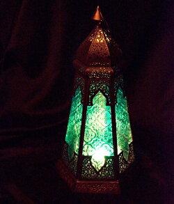 『モロッコスタイル スタンド型LEDキャンドルランタン』