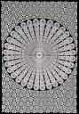 マルチクロス モノトーンマンダラ〔194cm×134cm〕 / ソファカバー 布 壁掛け カーテン シングル ベッドカバー インド…