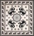 マルチクロス 象さん ナチュラル系〔208cm×228cm〕 / ソファカバー 布 壁掛け カーテン ダブル ベッドカバー インド…