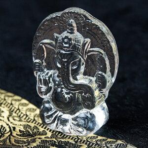 インドの神様 ガラス製ペーパーウェイト〔7cm×5cm〕 ガネーシャ / Ganesha ヒンドゥー教 文鎮 神様像 インド神様 置物 エスニック アジア 雑貨