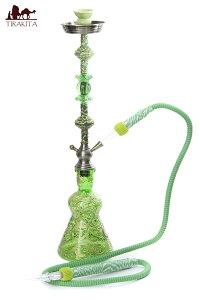 【送料無料】 シーシャ(水タバコ) 緑 【約82cm】 / 水パイプ 水煙管 フッカー ナルギレ エスニック インド アジア 雑貨
