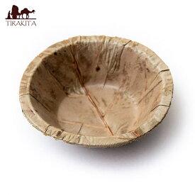 【約25枚セット】インドのリーフプレート カトリ ボウル 直径10cm / インテリア 皿 葉っぱ カレー皿 ターリー チャイ チャイカップ アジアン食品 エスニック食材