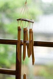 竹とココナッツの風鈴(小サイズ) / ウィンドチャイム バンブーチャイム アジアン インド エスニック 雑貨
