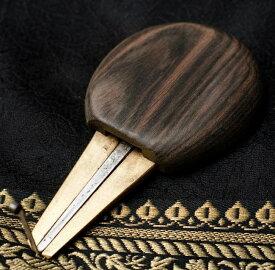 【送料無料】 ウッド ベトナム口琴 大 / ダンモイ モールシン jaw harp 民族楽器 インド楽器 エスニック楽器 ヒーリング楽器