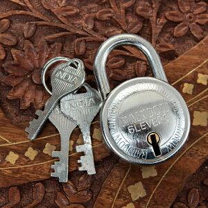 インドの南京錠 RAINBOW / 鍵 カギ ロック アンティーク ヴィンテージ エスニック アジア 雑貨