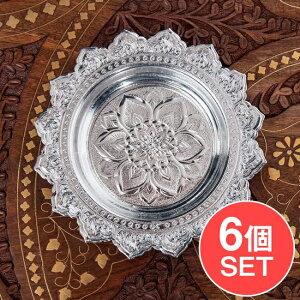 【送料無料】 【6個セット】タイのお供え入れ 飾り皿 直径:約14cm / 神殿 神様 仏教 果物 食器 ブッダ インド バリ プレート アジアン食品 エスニック食材