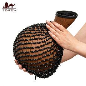 【送料無料】 シェケレ アフリカ起源のパーカッション / バリ 打楽器 民族楽器 インド楽器 エスニック楽器 ヒーリング楽器