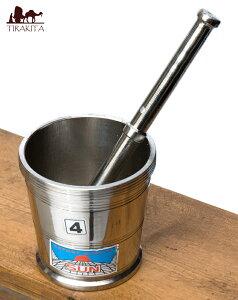 スパイスグラインダーNo.4 大 / すり鉢 カレー すりつぶす インド 調理器具 食器 アジアン食品 エスニック食材