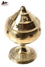 卍のランプシェード 【14cm】 / 灯心 インド お香立て 礼拝 インセンス アジア エスニック