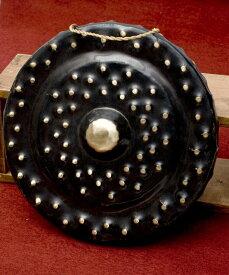 【送料無料】 ベトナムのゴング(銅鑼)35cm / ドラ 鐘 ベル 民族楽器 インド楽器 エスニック楽器 ヒーリング楽器