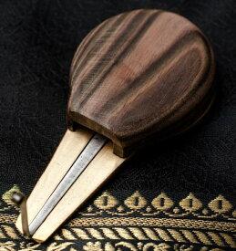 【送料無料】 ウッド ベトナム口琴 小 / ダンモイ モールシン jaw harp 民族楽器 インド楽器 エスニック楽器 ヒーリング楽器
