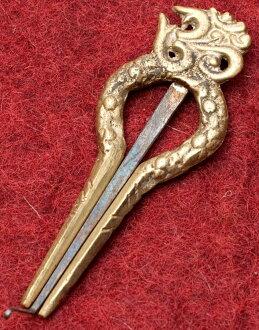 尼泊尔: 黄铜犹太人 harp-Orne(277) [约 8.5 厘米]