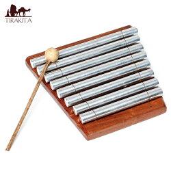 【送料無料】 エナジーチャイム 8音 16mm / 鉄琴 バリ 打楽器 民族楽器 インド楽器 エスニック楽器 ヒーリング楽器