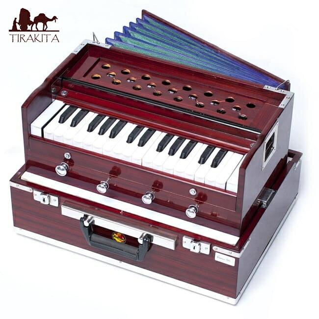 【Kartar Music House社製】ポップアップハルモニウム 2ドローンタイプ / Harmonium ピアノ インド 楽器 アコーディオン 送料無料 レビューでタイカレープレゼント あす楽