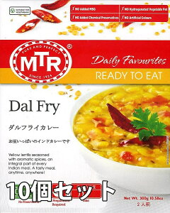 Dal Fry 豆カレー 10個セット / レトルトカレー MTR インド料理 緑豆 アジアン食品 エスニック食材