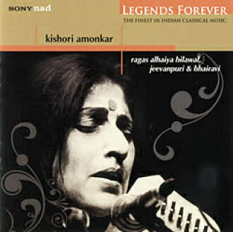 Legends Forever-Kishori Amonkar cd印度音乐CD主唱民族音乐